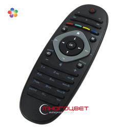 Пульт ДУ для LED телевизора Philips 2422 549 90301 в форме овала - черный
