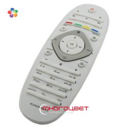 Пульт ДУ для LED телевизора Philips 242254990416 в форме овала - белый