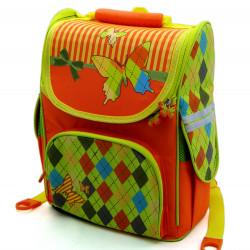 Рюкзак ортопедический Olly с бабочками - оранжевый