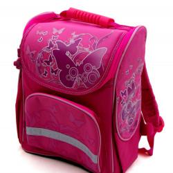 Рюкзак ортопедический Olly с бабочками - розовый