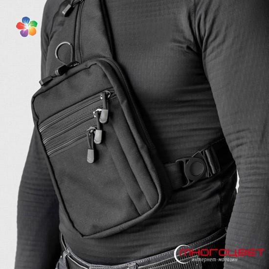 Нагрудная сумка-кобура A-line А33 синтетическая черная