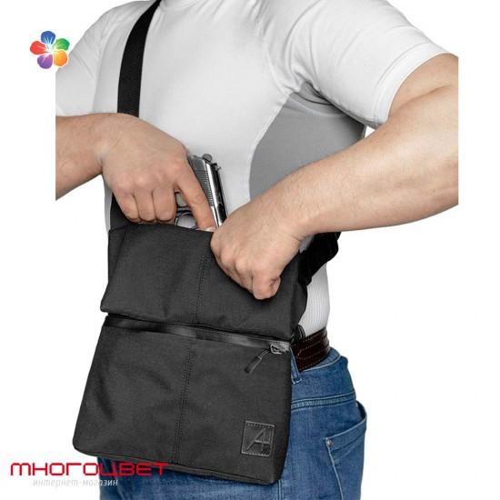 Плечевая сумка-кобура A-line А41 синтетическая черная